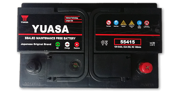 Baterías Zárate | Somos representantes directos de baterías Yuasa en Salta • Batería Yuasa 12v X 54AH