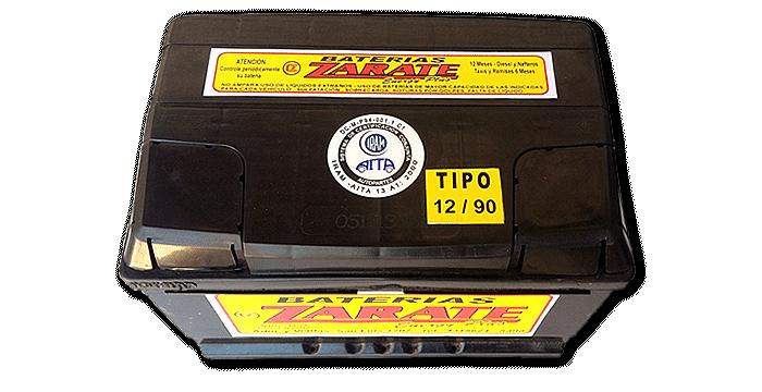 Baterías Zárate | Baterías para todo tipo de vehículos • Batería Zárate 12v X 90 AMP