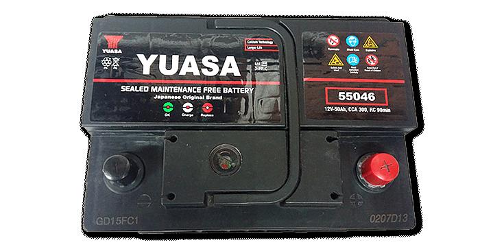 Baterías Zárate | Somos representantes directos de baterías Yuasa en Salta • Batería Yuasa 12v X 50 AH